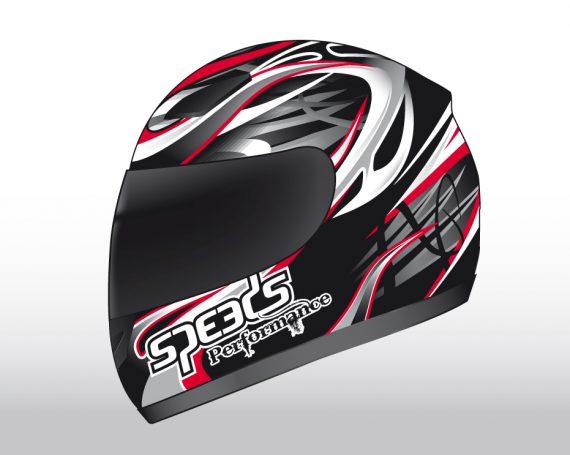 Speeds Perfomance II Helmet Graphic