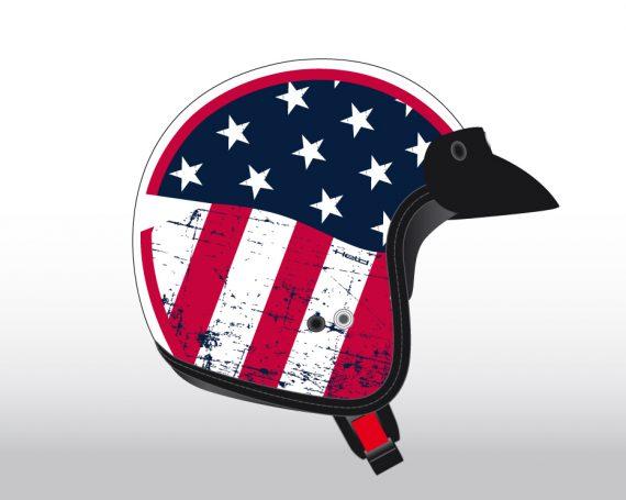 Held Easy Rider Helmet Graphic